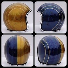 10 Custom Helmets from Chemical Candy Customs that I love, and you will too. Haven& heard of chemical candy? Motorcycle Helmet Design, Biker Helmets, Biker Gear, Motorcycle Style, Women Motorcycle, Vintage Helmet, Vintage Racing, Motocross, Helmet Paint