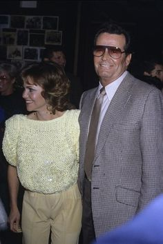 "James Garner and Sally Field - They co-starred in the film ""Murphy's Romance""."