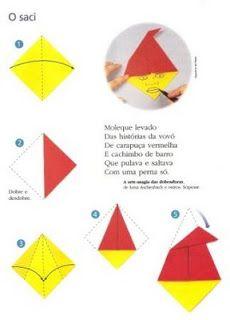 Ensinando com Carinho: Origami dos personagens do Folclore