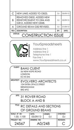 Title blocks for CAD - YourSpreadsheets Presentation Format, Interior Design Presentation, Autocad, Title Block, Title Boxing, Construction Documents, Best Templates, Technical Drawing, Architecture Plan