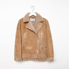 dc6f4457f02e For freezing temperatures, our ACNE STUDIOS Velocite tan brown shearling  jacket, new with tag