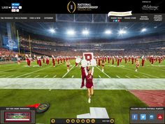 2016 College Football Playoff National Championship Game Gigapixel | Blakeway Gigapixel - http://gigapixel.panoramas.com/cfp/2016/ This 360° fan photo captures a multi-billion pixel view from the sideline at the 2016 CFP Championship Game played at the University of Phoenix Stadium on January 11, 2016.  This game was played between the Alabama Crimson Tide and Clemson Tigers, with Alabama taking home the victory for the 2015-2016 college football season.