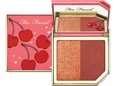 Shop Fruit Cocktails Strobing Blush Duo by Too Faced at MECCA. These strobing blush duos come in four different colour sets and contain one matte blush shade and one complimentary highlighting blush shade. Contour Makeup, Makeup Brush Set, Skin Makeup, Beauty Makeup, Perfect Makeup, Cute Makeup, Gorgeous Makeup, My Makeup Collection, Elf Makeup
