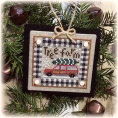 The first release in the exclusive 2019 Country Christmas Ornament-a-month Club! Only available through Crazy Annies Stitchin! Country Christmas Ornaments, Cross Stitch Christmas Ornaments, Christmas Cross, Woodland Christmas, Christmas Ideas, Xmas, Just Cross Stitch, Cross Stitch Finishing, Cross Stitch Needles