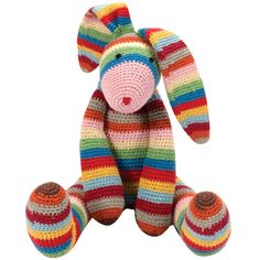 Striped Bunny Toy
