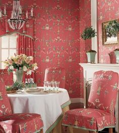 Thibaut has a wide selection of beautiful Chinoiserie fabrics and wallpapers with very high-end designer looks without the huge price tags.