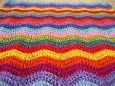 golfpatroon haken - crochet waves (English and Nederlands haak patroon).