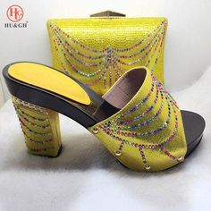 New Arrival Rhinestone Italian Shoes And Handbags Set African Style ... 91af992de090