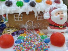 Christmas Gingerbread House - M&M's roof. http://www.marthastewart.com/356531/swedish-gingerbread-house