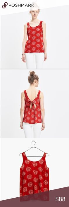 Madewell Bow-Back Top Madewell Bow-Back Top.  NWT.   A breezy silk top with an undeniably pretty back detail—it ties in a bow above a peekaboo cutout.    True to size. Silk. Dry clean. Madewell Tops Blouses