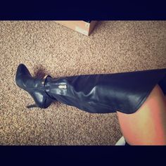 671152f79b7a Shop Women s Fergie Black Gold size 8 Over the Knee Boots at a discounted  price at Poshmark. Description  Black over the knee boots with gold details.