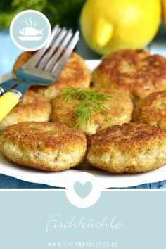 fish fritters- Fish truffles from the Thermomix - Cajun Chicken Recipes, Chicken Mushroom Recipes, Meat Recipes, Diabetic Recipes For Dinner, Healthy Breakfast Recipes, Redfish Recipes, Fresh Fish Recipes, Lemon Fish, Best Pancake Recipe