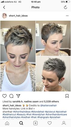 30 New Best Pixie Haircut Ideas For 2019 - - Short Hairstyles - Hairstyles 2019 Short Sassy Hair, Short Hair Cuts, Short Hair Styles, Short Pixie Haircuts, Pixie Hairstyles, Pelo Color Gris, Pelo Pixie, Cut Her Hair, Dream Hair