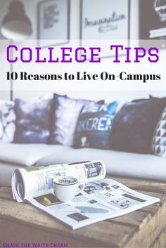College tips: 10 reasons to live on-campus. Dorm life is a great opportunity to learn more about yourself and build your independence. Although this new freedom is an awesome learning experience, there are plenty of other reasons why college students should consider living on-campus. #college