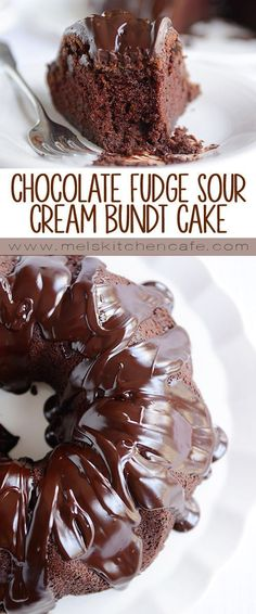 Chocolate Fudge Sour Cream Bundt Cake | Mels Kitchen Cafe