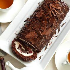 Black Forest Cake Log