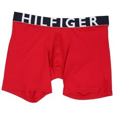 Tommy Hilfiger Hilfiger Bold Boxer Brief (Mahogany) Men's Underwear ($23) ❤ liked on Polyvore featuring men's fashion, men's clothing, men's underwear, mens boxer briefs and mens underwear boxer briefs