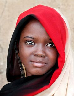 Africa | Portrait of a young girl taken in Zinder. Niger
