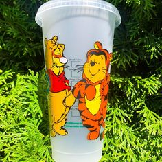 Is there anything cuter than Pooh dressed as Tigger and Tigger dressed as Pooh 🧡💛 🎃 The first Mickey's Not So Scary Halloween Party is… Starbucks Cup Art, Disney Starbucks, Custom Starbucks Cup, Personalized Starbucks Cup, Personalized Cups, Scary Halloween, Halloween Party, Tumblr Cup, Disney Cups