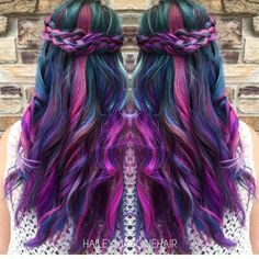 """Hot on Beauty on Instagram: """"Gorgeous neon braided style by rising IG artist @haileymahonehair Please give this talented stylist a FOLLOW. Her page is amazing! FOLLOW @haileymahonehair @haileymahonehair @haileymahonehair"""""""