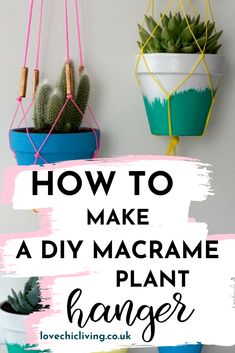 I've been a little busy this week testing out some ideas for DIY Planters and Hangers, as I've been challenged by Wickes to demonstrate how to brighten up your kitchen in the summer. It's a project I've been desperate to… Succulent Planter Diy, Diy Planters, Succulents Diy, Diy Crafts For Adults, Easy Diy Crafts, Home Crafts, Design Blogs, Diy Design, Modern Design