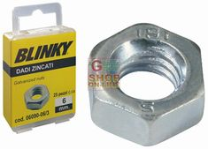 BLINKY DADI IN ACCIAIO ZINCATO BLISTER MM. 6 http://www.decariashop.it/minuteria/1884-blinky-dadi-in-acciaio-zincato-blister-mm-6.html