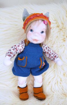 Waldorf inspired doll ,Cloth doll, Handmade doll ,Steiner Doll , Collectible doll , Soft sculpture doll , Baby doll ,Soft doll, Girl doll , by MaryUniqueDoll on Etsy