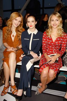 Diane von Furstenberg | Fall 2014 Ready-to-Wear Collection | Bella Thorne, Zoey Deutch and AnnaSophia Robb