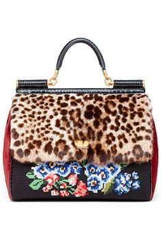 11899b26b0 leopard and needlepoint- Dolce - 2012 Pre-Fall Animal Print Purses