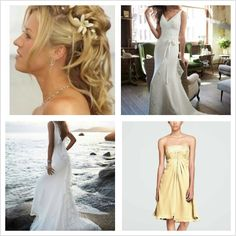 Dress, w hair plus bridesmaids dress ide