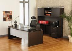 """5pc Modern Contemporary Executive Office Desk Set, #AL-SED-D1 by UTM. $2199.00. Silver elegant handle for all storages. Grommets holes and leveling glides included. 1 inch 3mm PVC edging commercial grade thick top and side. Lock and key for all storage. Modular pieces configure in a variety of ways to create the perfect office. Desk: 72"""" x 36-42"""" x 29.5""""h, Credenza + Hutch: 72"""" x 23.5"""" x 72""""h, Weight (lbs) 568, Material Commercial Grade Melamine 1"""" thick top, resist s..."""