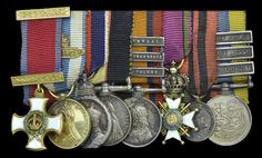 The mounted group of eight miniature dress medals worn by Major His Serene Highness Prince Francis of Teck, G.C.V.O., 1st Dragoons, and the brother to H.M. Queen Mary https://www.dnw.co.uk/auction-archive/past-catalogues/lot.php?auction_id=448&lot_id=284374