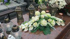 Casket Flowers, Funeral Flowers, Grave Decorations, Table Decorations, Cemetery Flowers, Fall Flowers, Floral Arrangements, Diy And Crafts, Floral Design