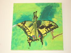 Butterfly: acrylic on canvas painted by a child in Emma's Art Room Crafts To Make, Butterfly, Canvas, Children, Room, Painting, Art, Tela, Young Children