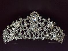 Wedding Crown Bridal Crown Full Crown Wedding Tiara Swarovski | Etsy Bridal Crown, Bridal Tiara, Bridal Hairpiece, Silver Tiara, Diamond Crown, Swarovski Stones, Crystal Crown, Tiaras And Crowns, Wedding Hair Accessories