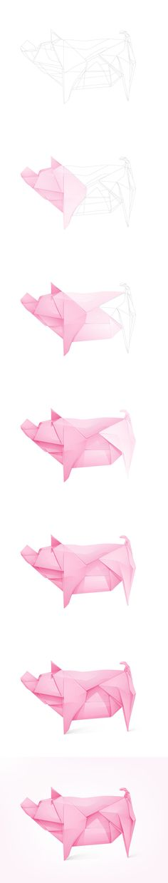 Piggy-bank-origami-process