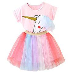 XILALU Baby Girl Tutu Denim Dress Short Sleeve Lace Princess Party Skirts