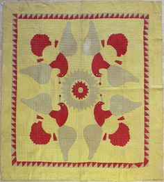Great Early Pieceded Eagle Quilt Late 19th Century. (pin from: accidental mysteries: Great American Textiles)