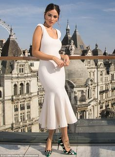 Knockout: Eiza Gonzalez at the Baby Driver portrait session at the Corinthia Hotel in Lond...