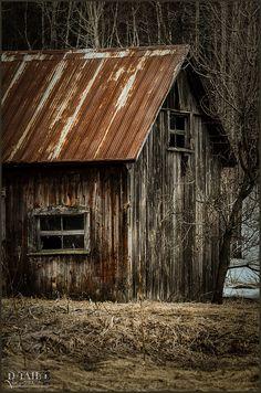 Rusty Barn in Quebec, Canada