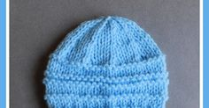 Another simple but effective little baby hat pattern for you to try - months or medium preemie . Baby Hat Knitting Patterns Free, Baby Hat Patterns, Baby Hats Knitting, Free Knitting, Knitted Hats, Knitting For Charity, Knitting For Kids, Christmas Crochet Patterns, Crochet Baby