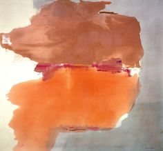 Helen Frankenthaler, Sphinx, 1976. Known as a second-generation Abstract Expressionist, she was married to the painter Robert Motherwell, She developed a method of painting best known as Color Field. Her staining method emphasized the flat surface over illusory depth, and it called attention to the very nature of paint on canvas, a concern of artists and critics at the time.