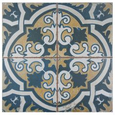 "EliteTile Royalty Canarsie 17.75"" x 17.75"" Ceramic Glazed Tile in Multicolor 