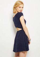 peek aboo back dress