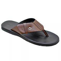 chinelo masculino de  couro stock sandals castiel