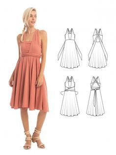 Essential Infinity Dress in Desert Sand - How to wrap an infinity dress - The perfect bridesmaid dress