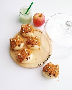 Cute Snacks, Cute Food, Yummy Food, Small Desserts, Cute Desserts, Japanese Sweets, Japanese Food Art, Sweet Recipes, Snack Recipes