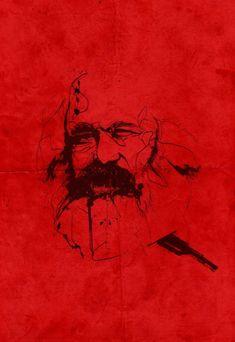 Karl Marx, Propaganda Art, Tattoo Ideas, Minimalist, Posters, Culture, Drawings, Image, Jewelry