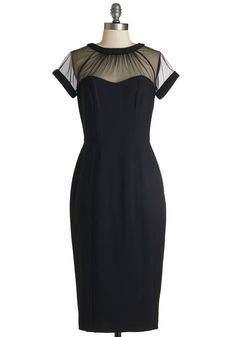 Flair for Fabulous Dress. When you sport this alluring black dress, its obvious you've got a knack for knockout style. #black #modcloth