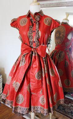 Beautiful Waxed Cotton Dress by MaylanasCloset on Etsy, $135.00
